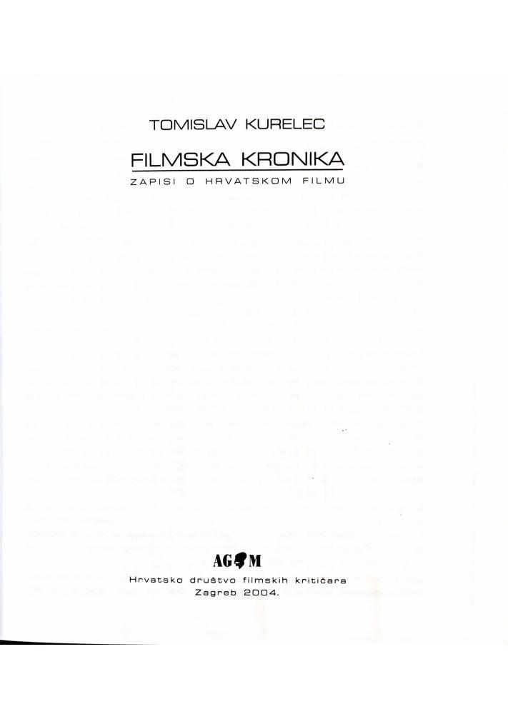 Filmska kronika - zapisi o hrvatskom filmu